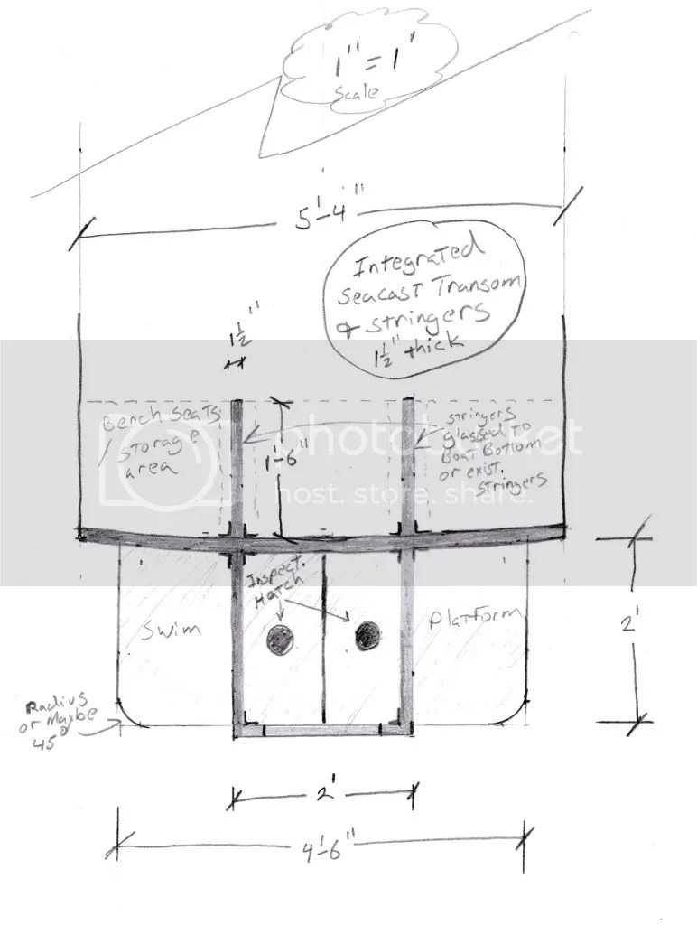medium resolution of don t laugh to hard but i made a scetch on how i would build making the stringers with seacast