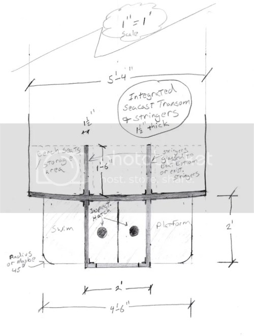 small resolution of don t laugh to hard but i made a scetch on how i would build making the stringers with seacast