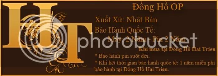 Chế độ bảo hành của đồng hồ OP chính hãng tại Đồng Hồ Hai Trieu