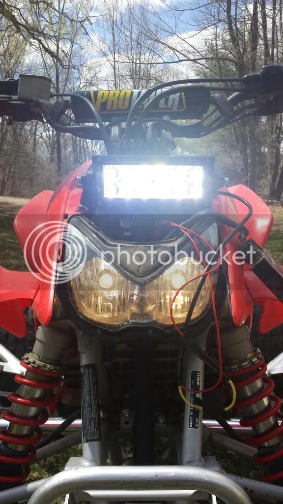 LED light bar for 05  Honda TRX Forums Honda TRX 450R Forum