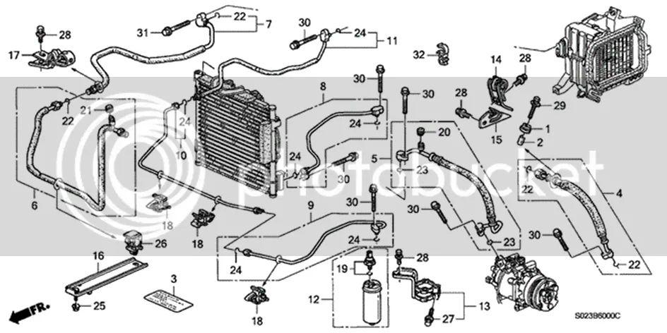 2003 honda civic ac compressor wiring