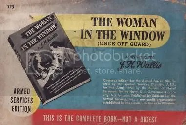 Woman in the Window Vintage Book Add