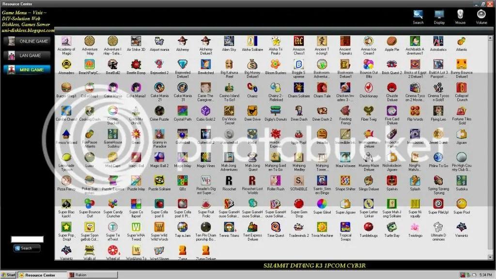 Cyber Cafe Games Menu Download