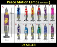 Retro Peace Lava Motion Lamp Funky Relaxation Mood Novelty ...