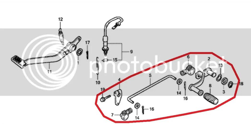 Honda CBR125R Gear Lever Connecting Bar Set 2004 2005 2006