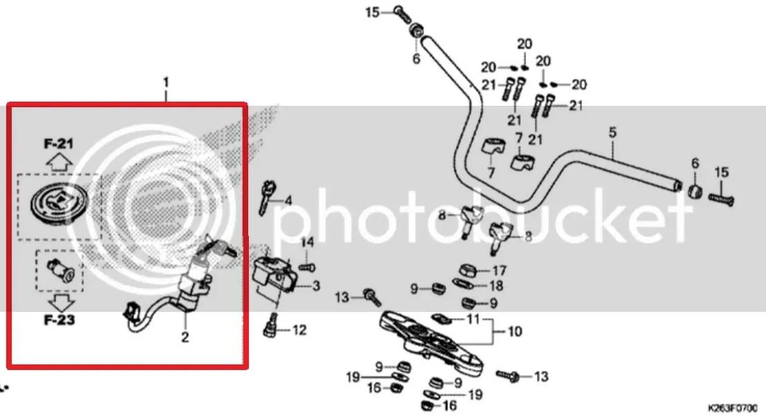 Honda MSX MSX125 Ignition Barrel & Seat Lock & Fuel Cap
