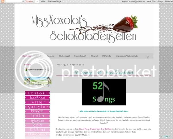 Blog Design MissXoxolat's Schokoladenseiten 08/2013