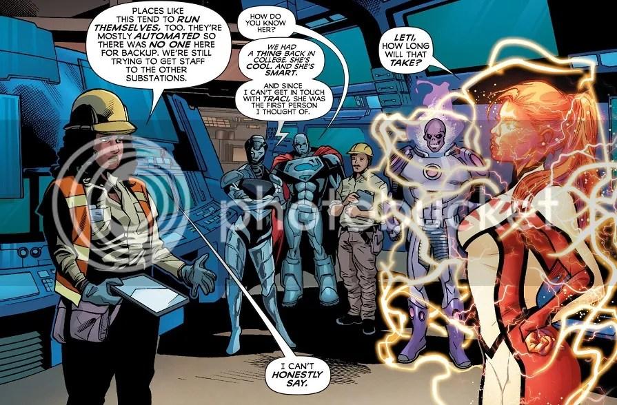Kudos on the subtle Natasha Irons character growth