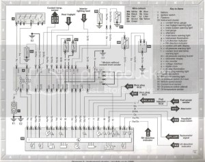 wiring diagram for the instrument cluster ** Dash problem