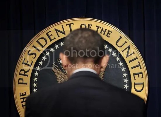 The President & his seal...