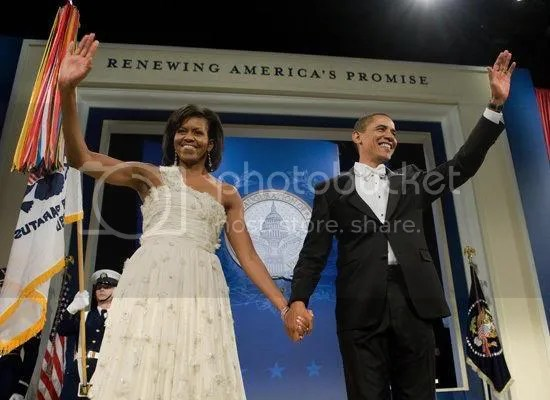 The President & First Lady arrive at the Home States Ball...
