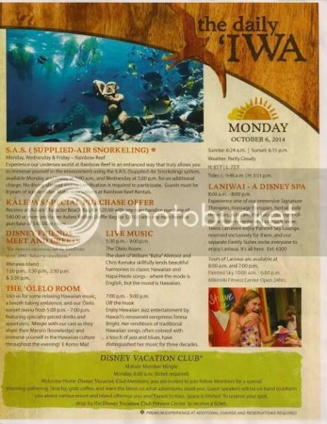 Disney's Aulani Daily 'Iwa