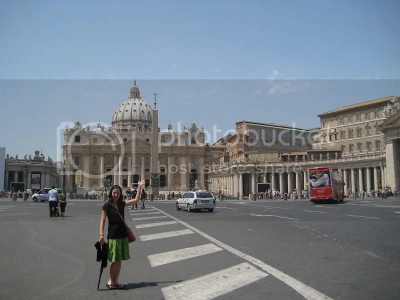 Me outside of St. Peters Basilica
