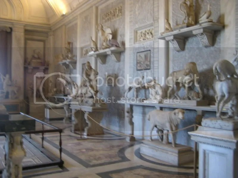 Animal statues. . . initially worshipped!  So. . . what are they doing at the Vatican?  Well, they were all abandoned, but an artist asked that they be put at the Vatican to be appreciated for their beauty as animals and not idols