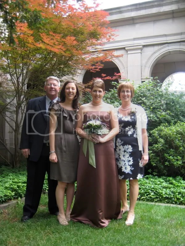 My fam (minus Sarahs husband Jamie, who we got for a later pic, which I dont have)