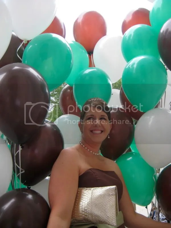 My sissy in the balloons