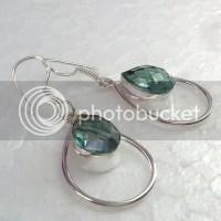 Aquamarine Gemstone Dangle Earrings Photo by silverart ...