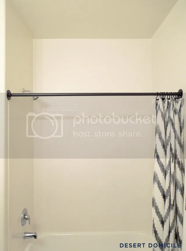 Double Shower Curtain Desert Domicile