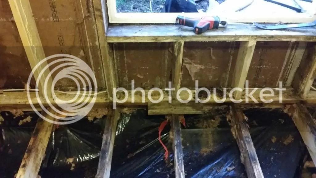 How would you fix this SubfloorWall  mobilehomerepaircom