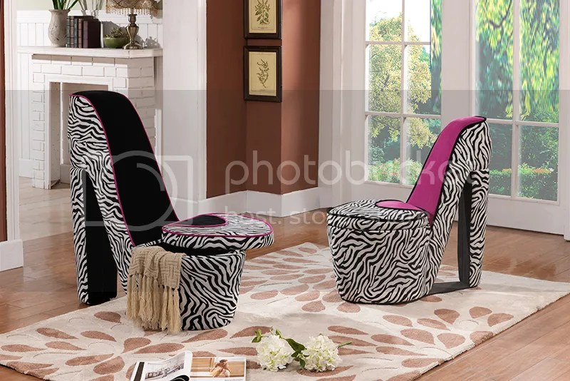 leopard high heel shoe chair lego table with chairs dining room 2017 - grasscloth wallpaper