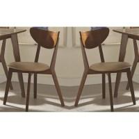 Set of 2 Kersey Mid-Century Modern Chestnut Dining Side ...