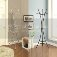 New Curved Lines Chrome Silver Black Metal Coat Hat Rack ...