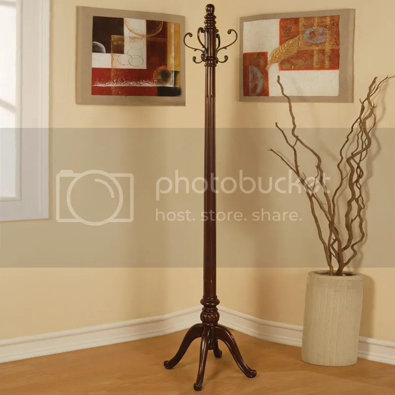 Coaster Traditional Heavy Curved Coat Hat Rack Hall Tree
