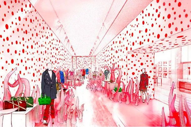 Louis Vuitton X Yayoi Kusama Pop-up Store