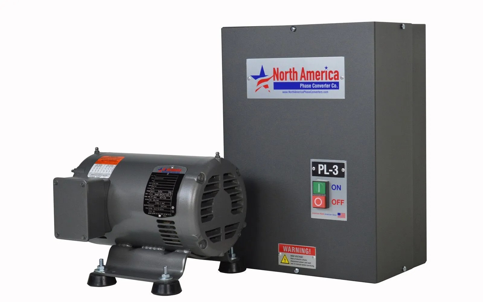 hight resolution of details about pl 3 pro line 3hp rotary phase converter built in starter made in usa