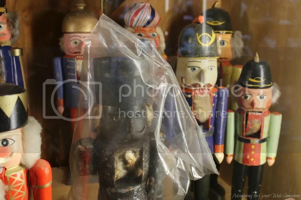 photo Burnt Nutcracker from a Fire in the Seiffen Working Museum On Display at the Leavenworth Nutcracker Museum_zpsifgyaz9h.jpg