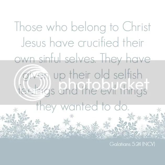 Galatians 5:24 lent day 7
