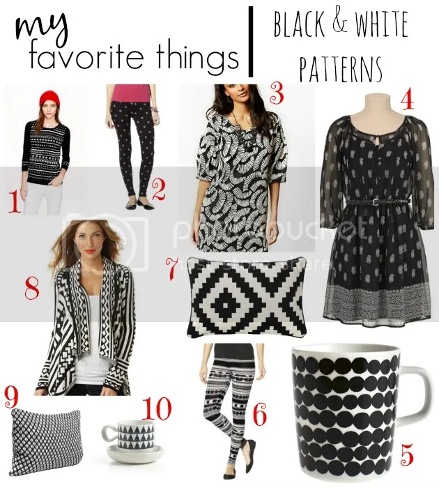 black and white pattern favorites