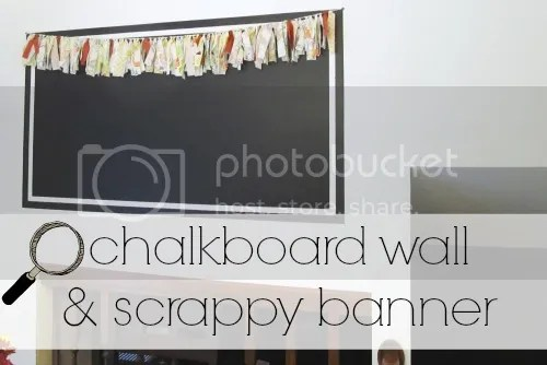DIY chalkboard wall