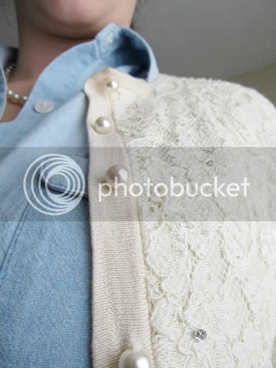 pearls lace rhinestone