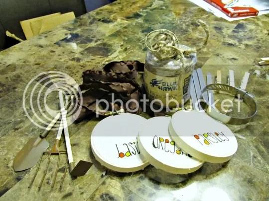 mason jar herb garden supplies
