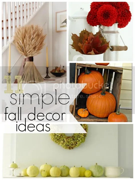 simple fall decor round up