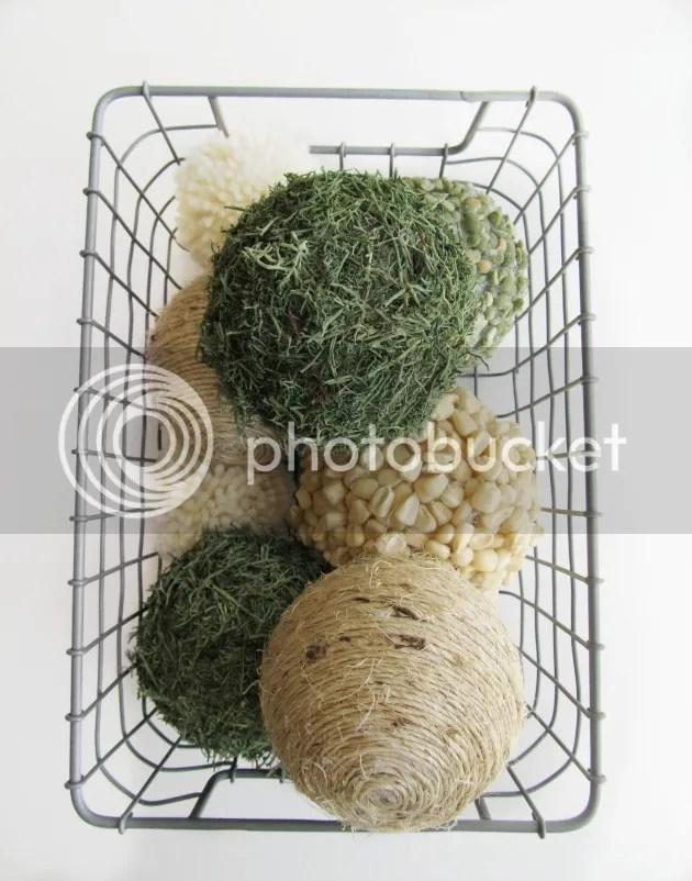 organic decor balls