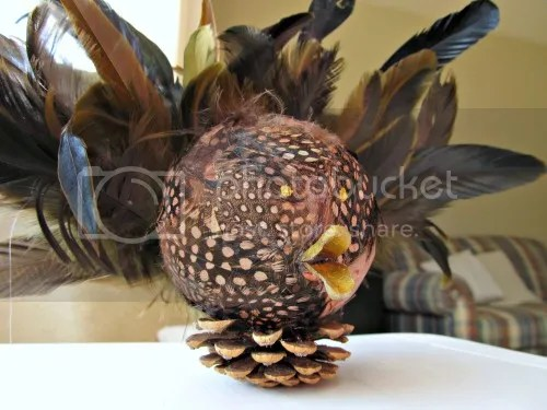 DIY feather turkey