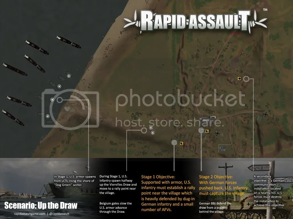 Rapid Assault: Up the Draw map
