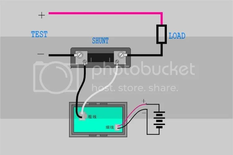 wire diagram for amp meter