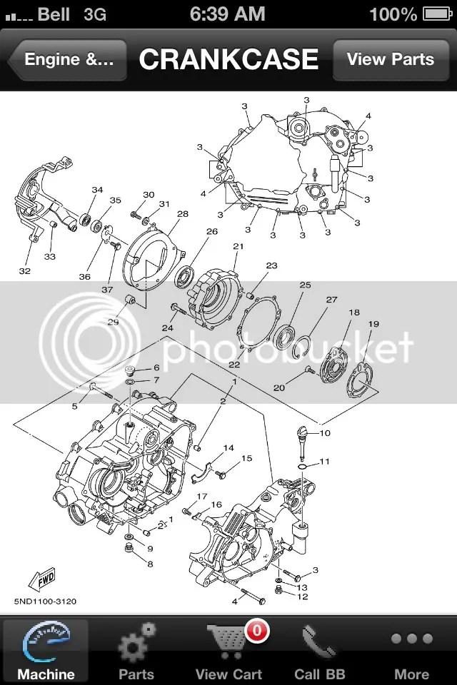 Yamaha Bruin 350 4x4 Engine Diagram. Catalog. Auto Parts