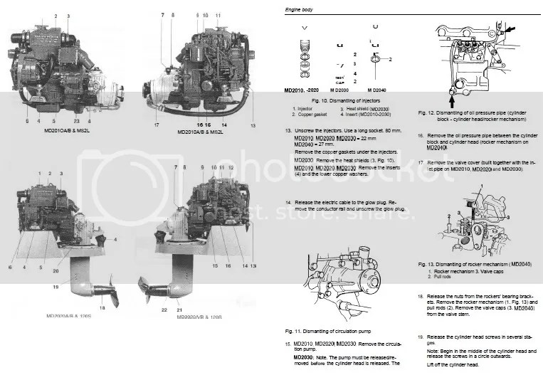 Volvo Penta marine engine workshop manual MD2010 MD2020