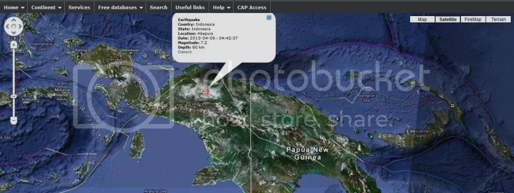7.0 mag earthquake  239km E of Enarotali, Indonesia photo 70magearthquake239kmEofEnarotaliIndonesia_zpsf1751c44.jpg