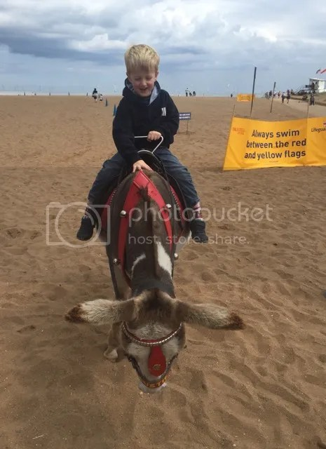riding a donkey in skegness