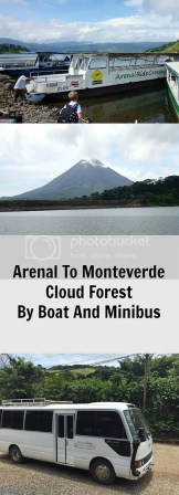 Arenal to Monteverde by boat and minibus, Costa Rica