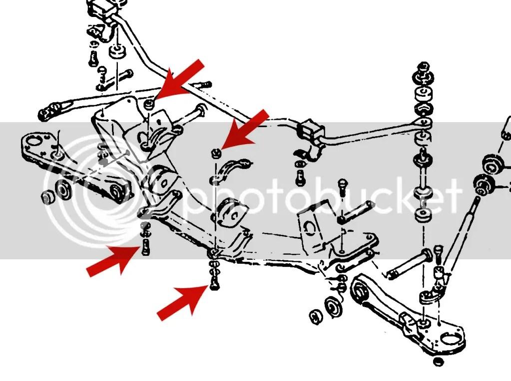 Datsun 240z 260z 280z Steering Rack to Front Crossmember