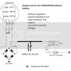 Motorcycle Stator Wiring Diagram The Nature Of Inquiry Alternator Great Installation Bsa B40 1961 6volts To 12volt Conversion Help Britbike Forum Rh Com Gm