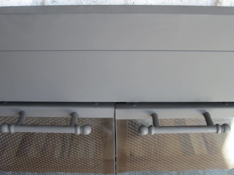 Update Fireplace Doors With Spray Paint / HomeStagingBloomingtonIL