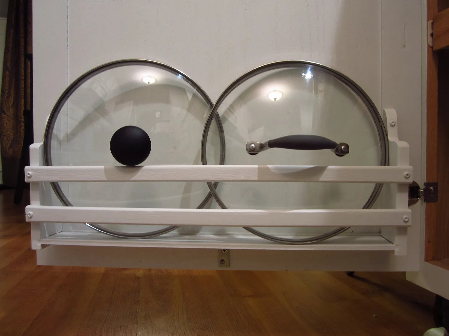 Creating Kitchen Storage for Pot Lids / HomeStagingBloomingtonIL