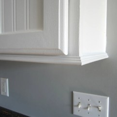 Molding On Top Of Kitchen Cabinets Wayfair Trim For With No Room Crown Home